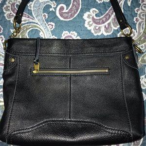 The Sak shoulder black leather bag